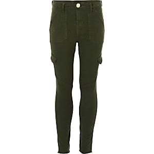 Amelie - Kaki skinny jeans voor meisjes