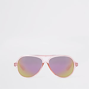 Mini girls pink aviator sunglasses
