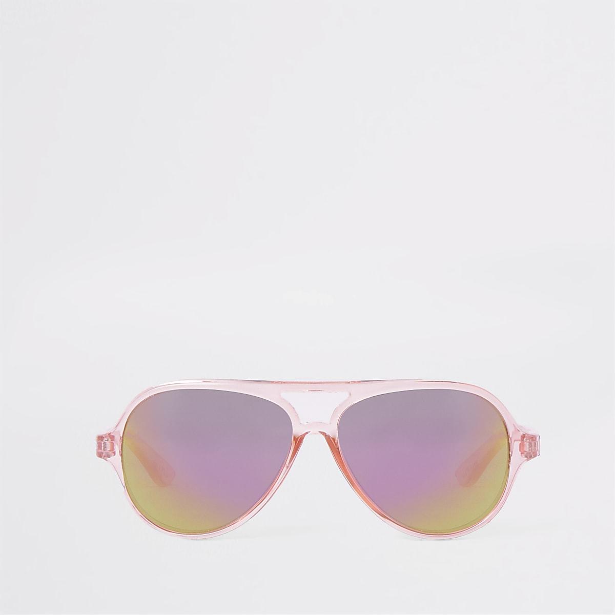 Mini girls pink aviator sunglasses