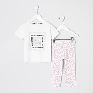 """Mini – Pyjama-Set """"Girl loves sleep"""" für Mädchen"""