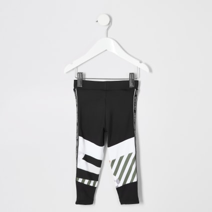 Mini girls black RI Active leggings