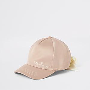 Casquette à inscription « Insta famous » rose pour mini fille