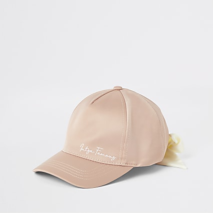 Mini girls pink 'insta famous' cap