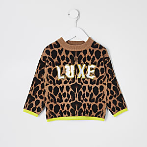 Pull imprimé animal « Luxe » Mini fille