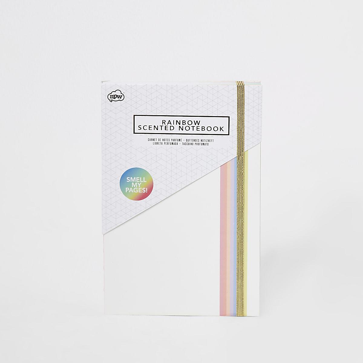 NPW - Wit geurnotitieboekje met regenboogkleuren voor kinderen