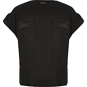 Schwarzes Utility T-Shirt
