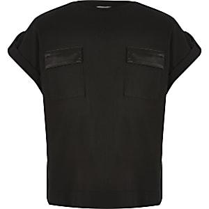 T-shirt utilitaire noir pour fille