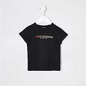 Pride – T-shirt noir avec inscription « We are one » pour mini enfant