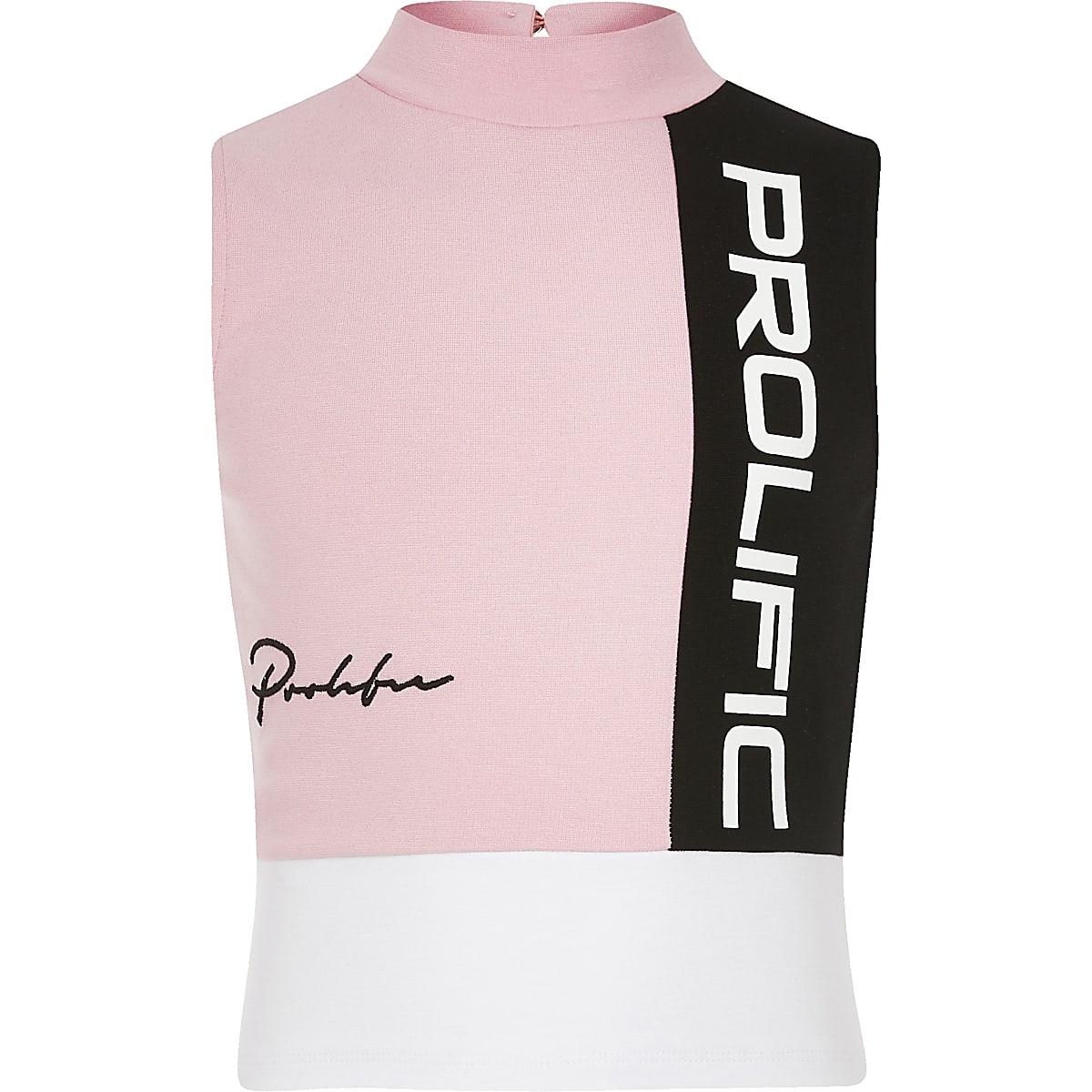 Prolific- Roze top met kleurvlakken voor meisjes