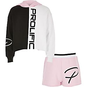 Outfit met roze 'Prolific' hoodie voor meisjes