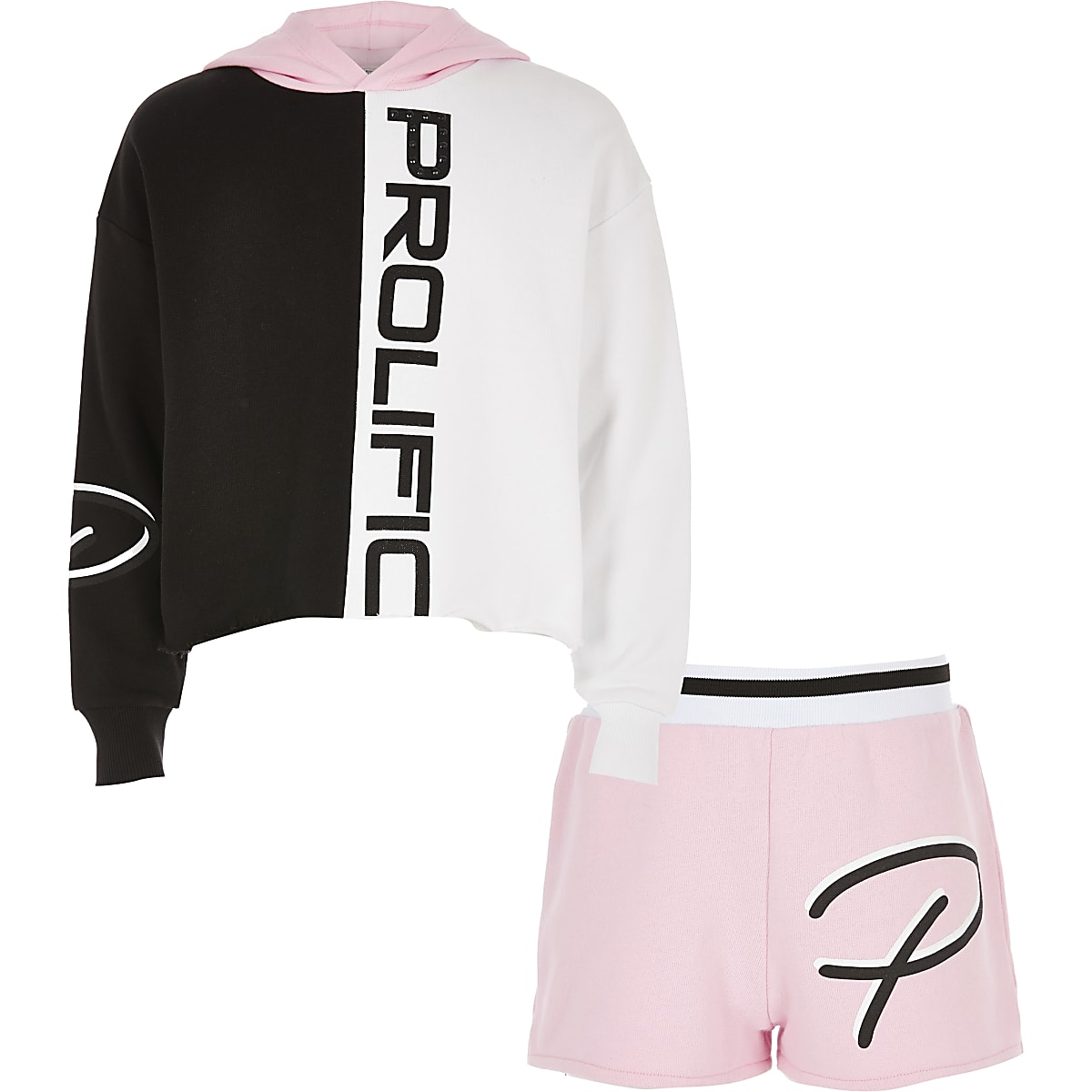 Girls pink Prolfiic hoodie outfit