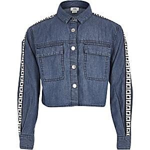RI - Blauw denim shirt voor meisjes