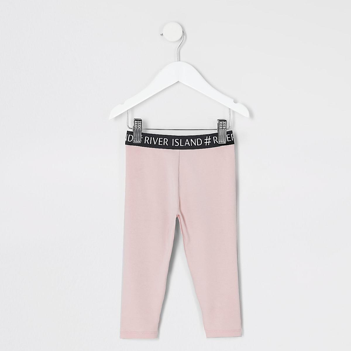 Mini girls pink leggings