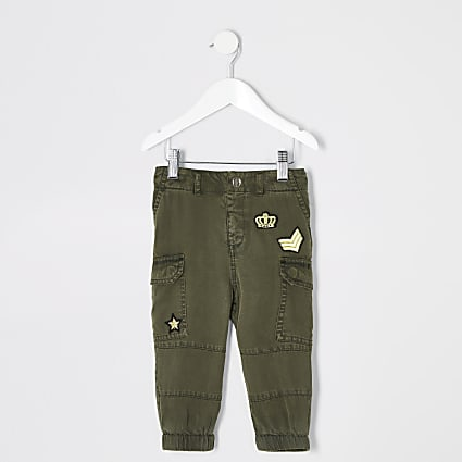 Mini girls khaki utility jogger