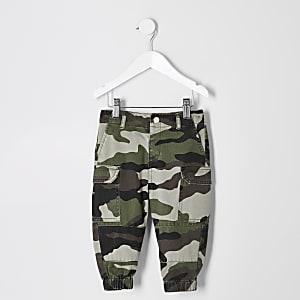 Mini girls camo utility trousers