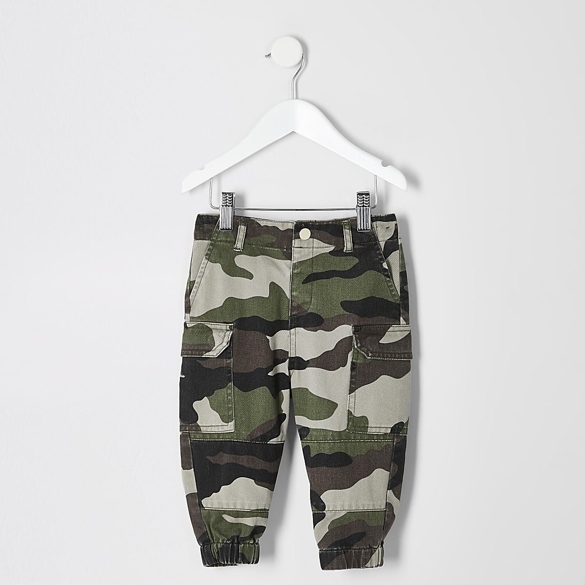 Mini girls camo utility trousers