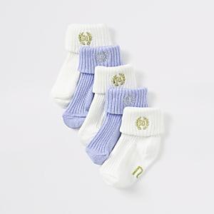 Multipack blauwe sokken met RI-logo voor baby's