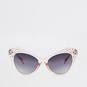 Verzierte Cateye-Sonnenbrille