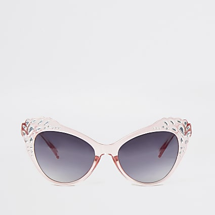 Mini girls embellished cat eye sunglasses