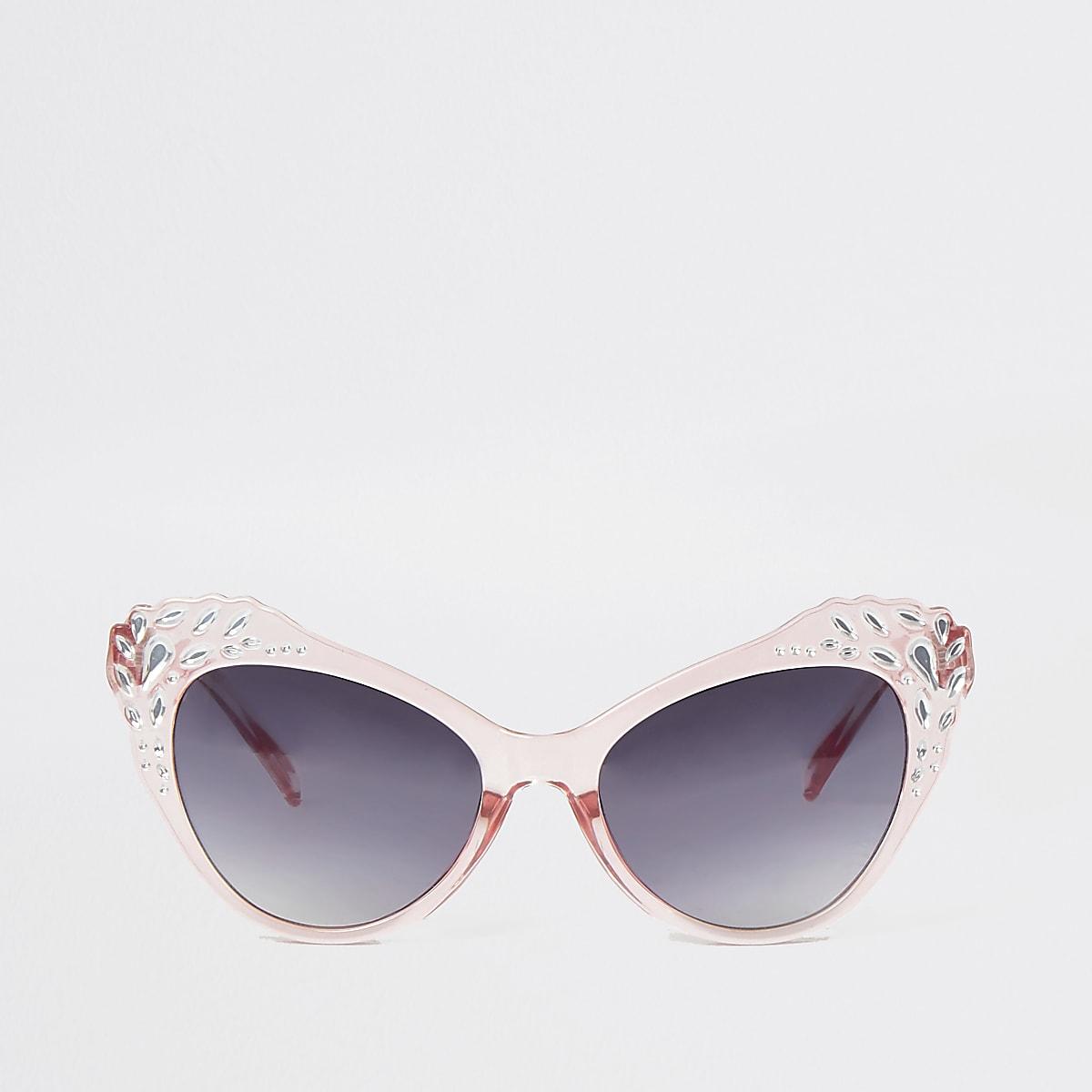 Mini girls embellished cat eye sunglasses