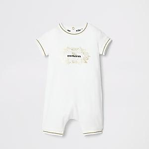 Barboteuse «Future Princess» crème pour bébé
