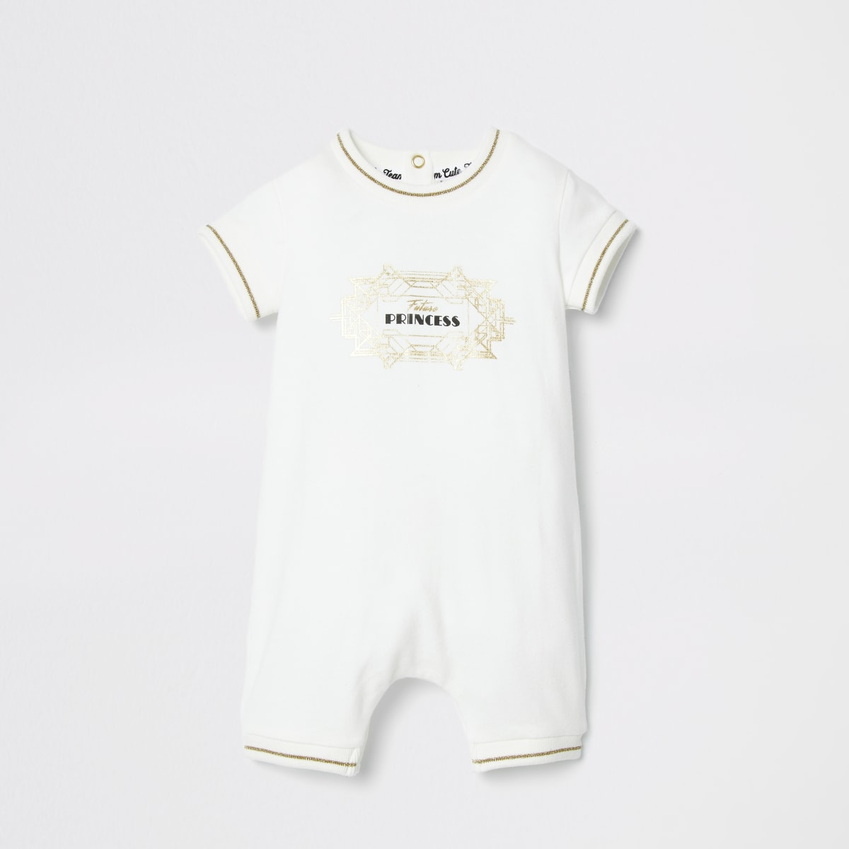 Baby cream 'Future Princess' romper