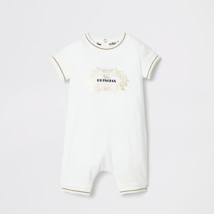 Baby cream 'Future Princess' twinning romper