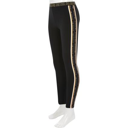 Girls black RI leggings