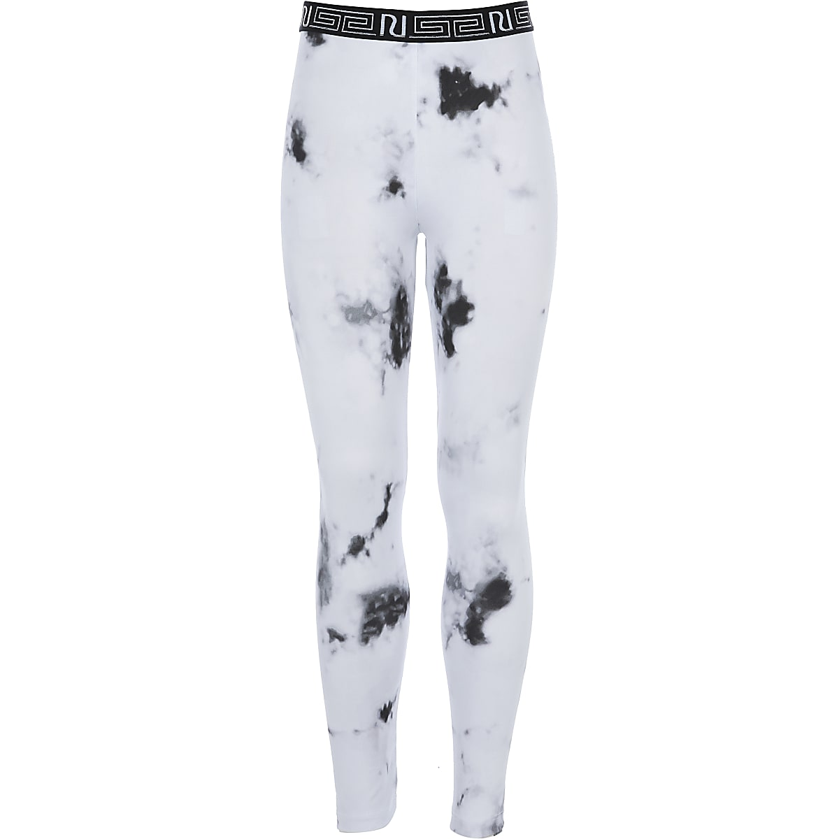Girls RI Active white marble print leggings