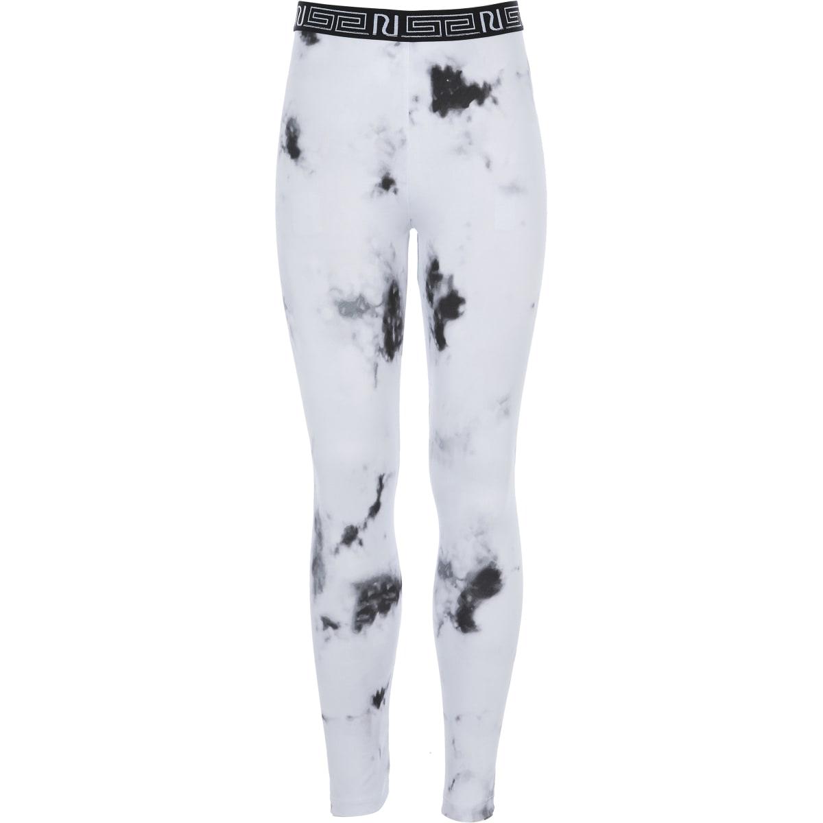 Girls RI Active white marble print leggings