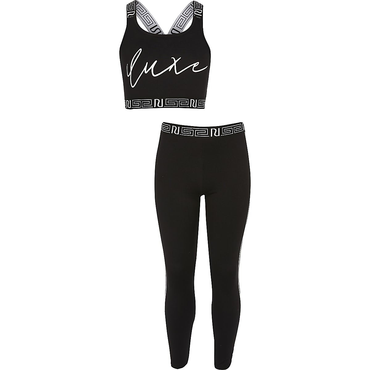 Girls RI Active black crop top outfit