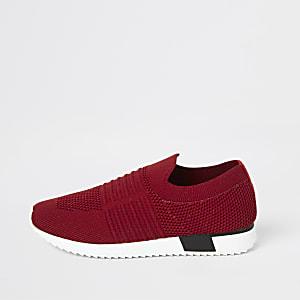 Strick-Sneaker für Mädchen in Rot