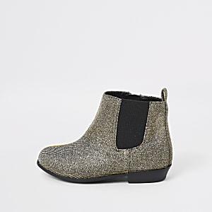 Mini - Met glitter verfraaide chelsea boots voor meisjes