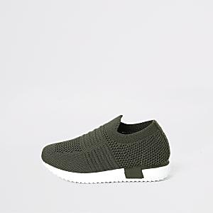 Mini – Sneaker in Khaki für Mädchen