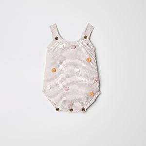 Roze rompertje met bobbeltjes voor baby's