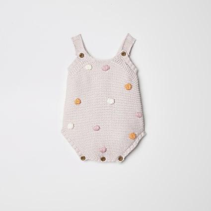 Baby pink bobble vest