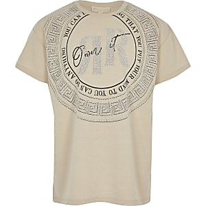 RI – T-shirt «Own it» beige pour fille
