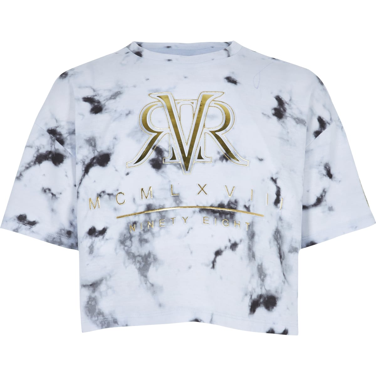 Girls RI Active white marble print T-shirt