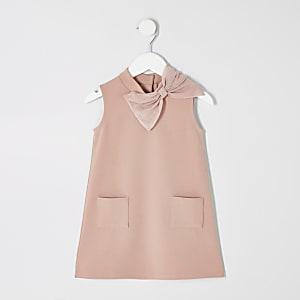 Robe droite rose mini fille