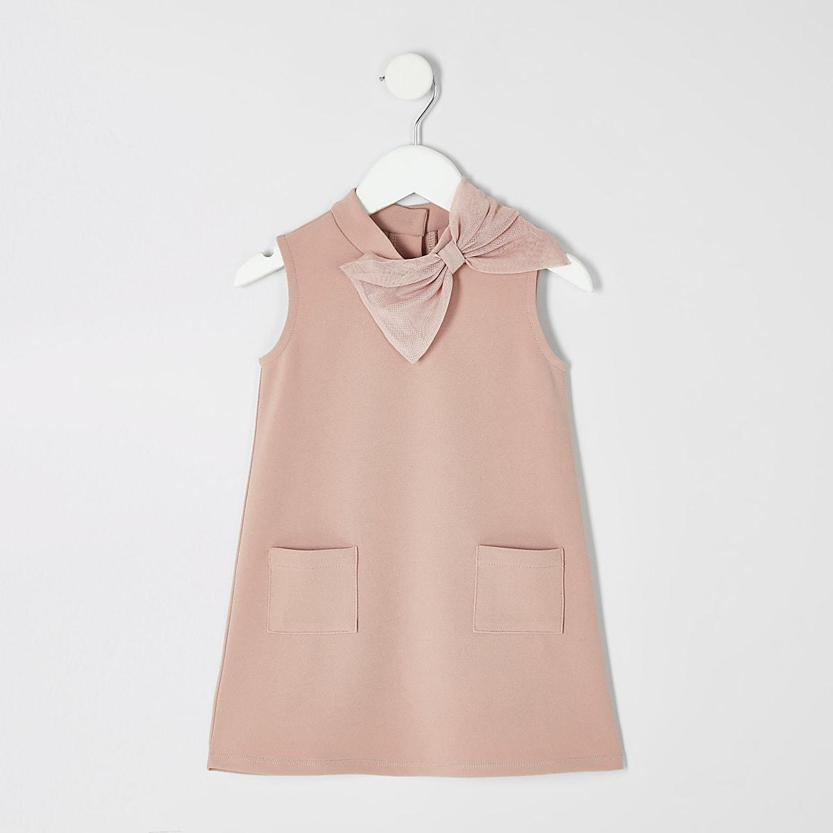 Mini girls pink shift dress