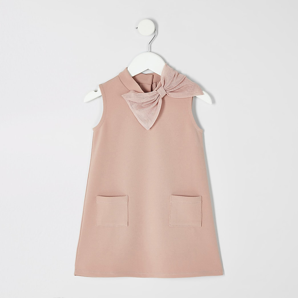 Mini girls pink shift dress