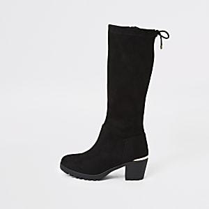 Schwarze kniehohe Stiefel für Mädchen