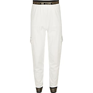 Girls RI Active white utility joggers