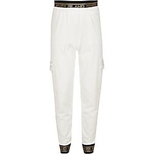 RI Active – Pantalon de jogging utilitaire blanc pour fille