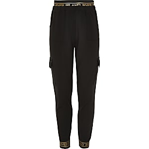 Girls RI Active black utility joggers