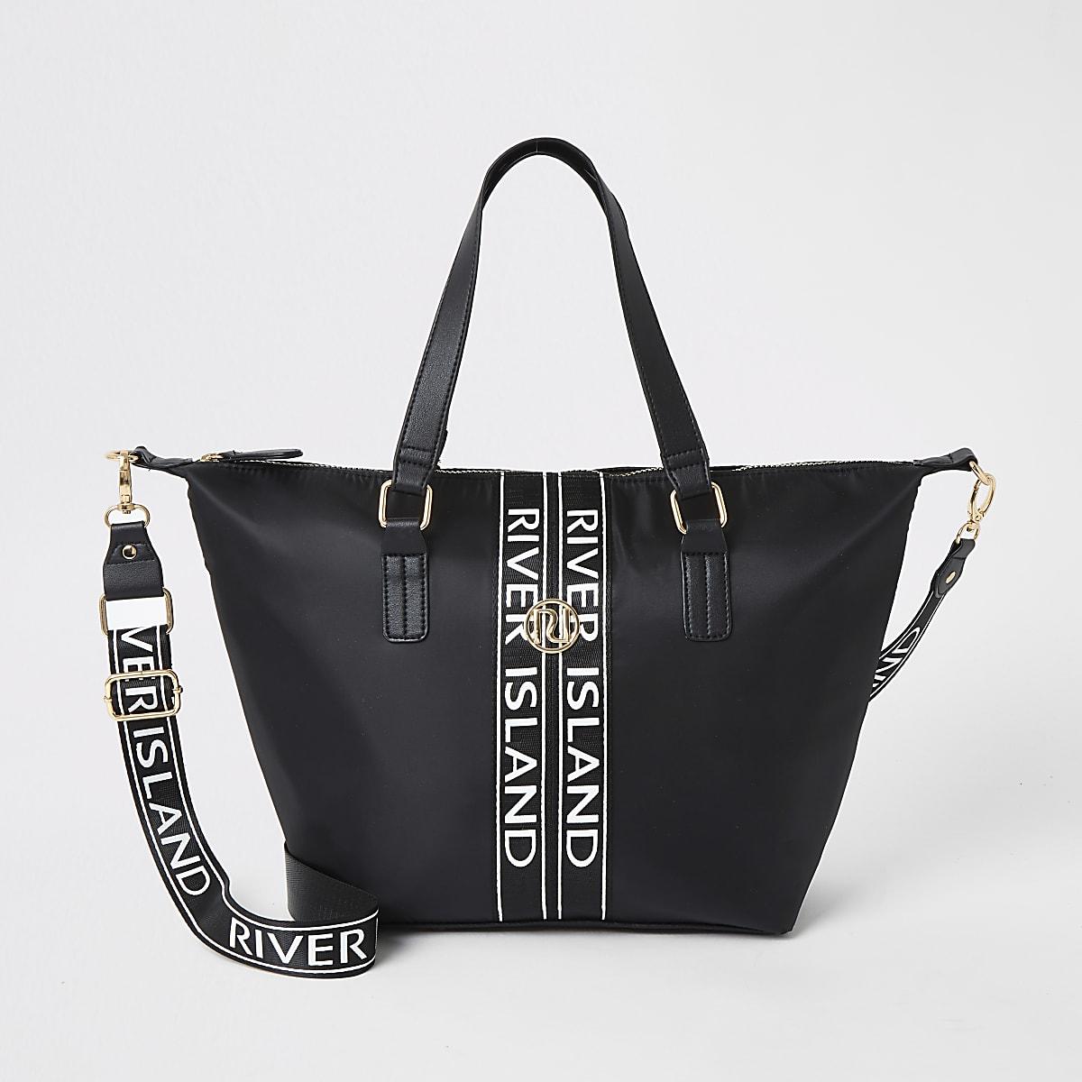 Zwarte shopper met RI-logo voor meisjes
