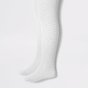 Mini - Grijze gebreide maillots voor meisjes