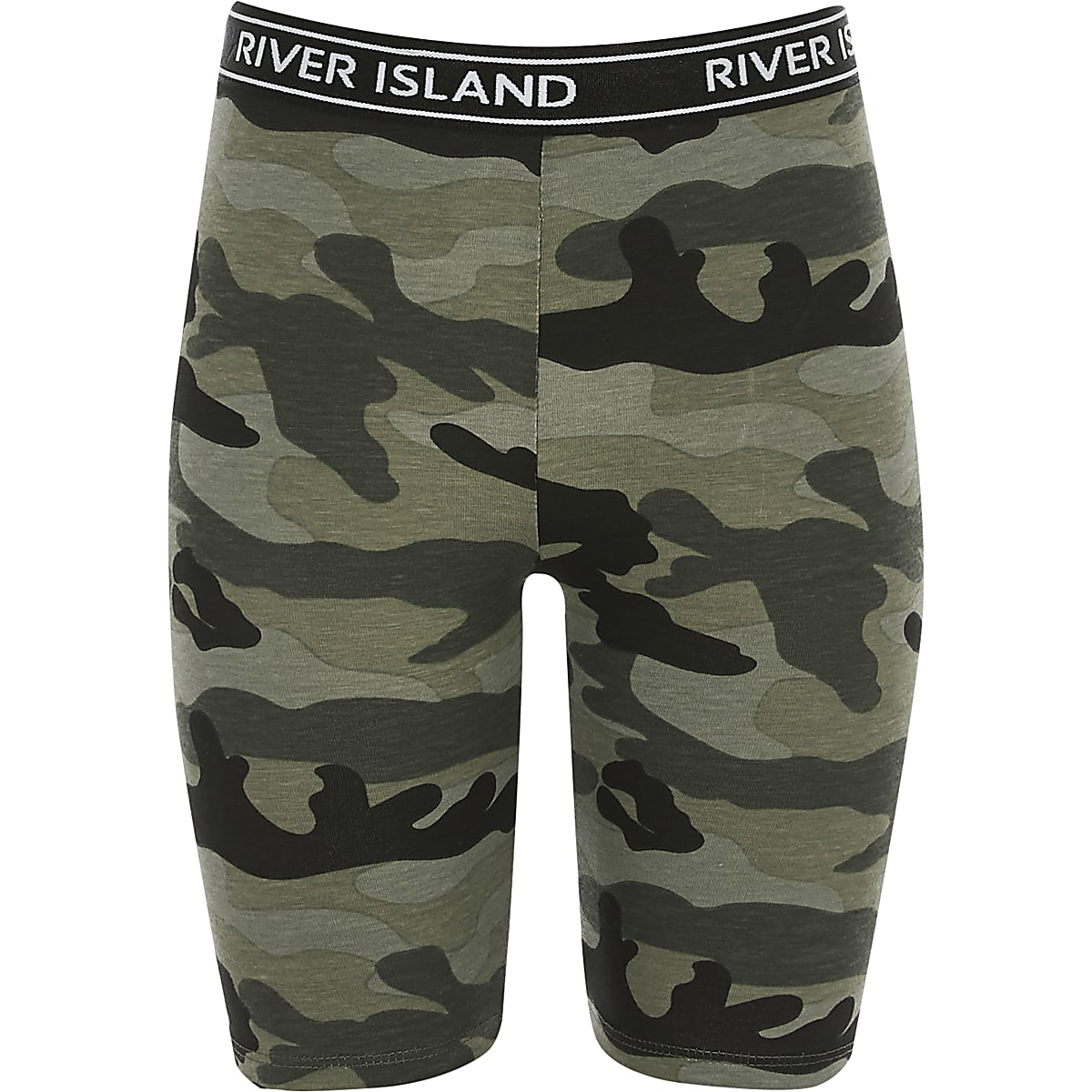 Girls khaki camo cycle shorts