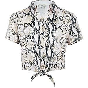 Pinkes, paillettenverziertes Hemd