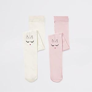Mini - Set van 2 maillots met eenhoorn- en hartjesprint voor meisjes